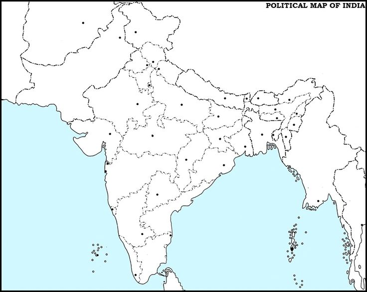 India Political Blank Printable Map Pin by balaji n on ENGLISH ASSIGN 1 | India map, Map outline, Map