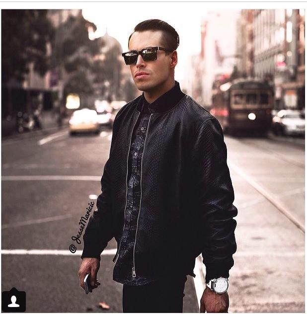 Fashion Blogger- Jesse Matricic wearing saxony