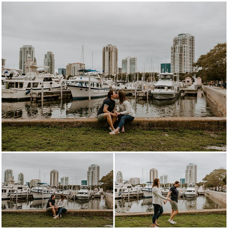 St. Pete engagement session at Vinoy Marina in 2020
