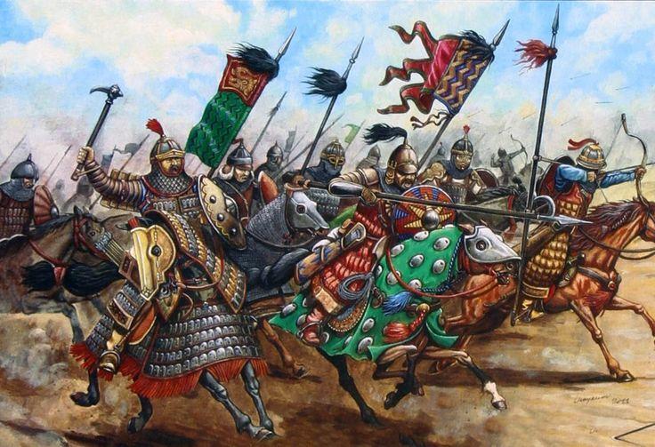 Carga de los mongoles de la Horda de Oro, cortesía de Zvezda. Más en www.elgrancapitan.org/foro