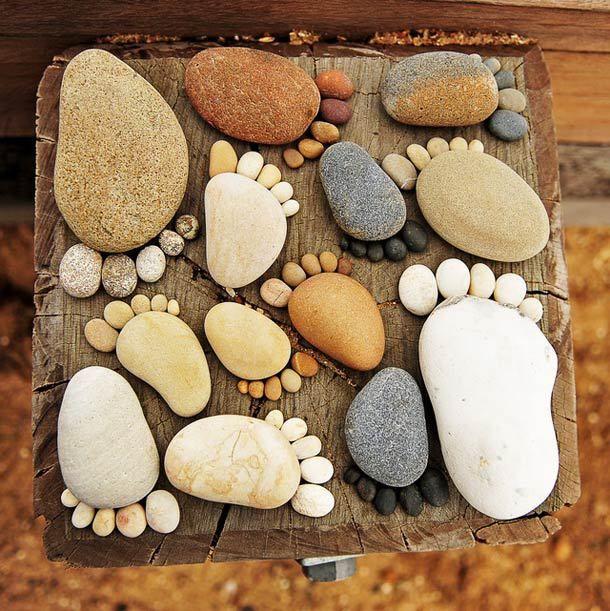 조약돌로 만든 발바닥, 실컷 구경하세요~~http://i.wik.im/70690