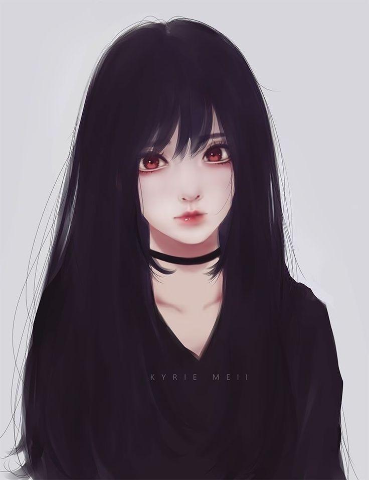 Resultado De Imagem Para Girl Anime Black Hair Manga Augen Zeichnen Manga Girl Manga Augen