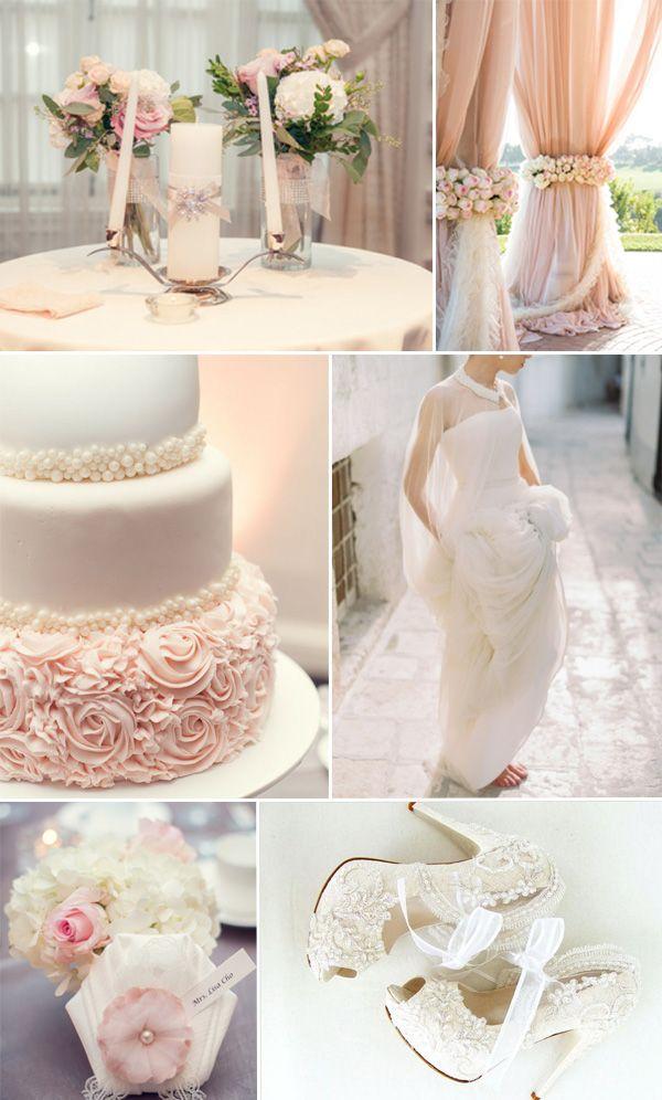 blush pink inspired elegant themed wedding ideas for 2015 trends