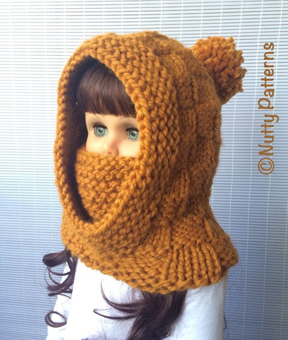 Knitting Pattern Dakota Hooded Cowl Instant Download
