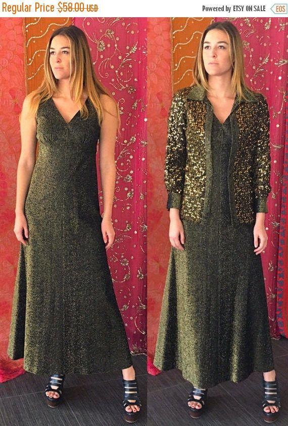 Vente Lee Jordan robe robe Sequin robe de Cocktail robe or