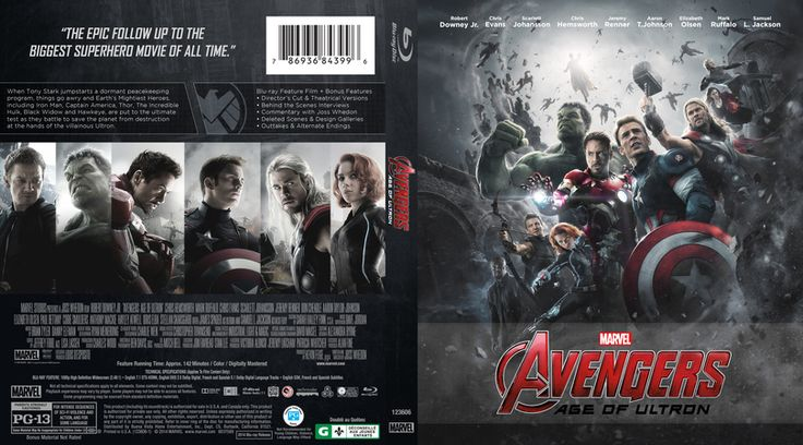 Avengers: Age of Ultron Blu-ray Custom Cover