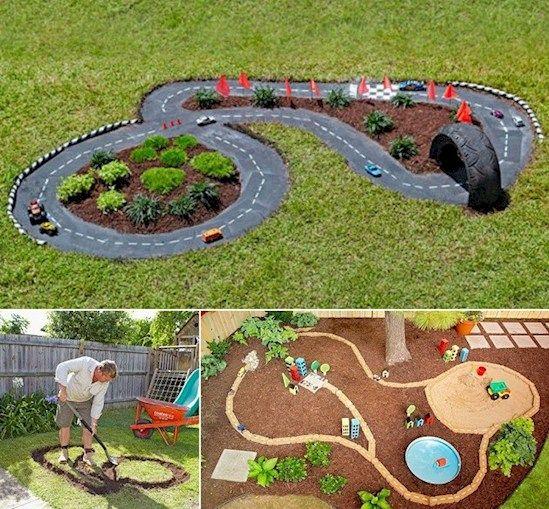 Kinder lieben es mit Spielzeugautos oder auch mit dem eigenen Fahrrad, Rennen zu veranstalten. Was eignet sich dazu besser als eine eigene Rennstrecke. Natürlich kann man diese im Spielwarenhandel erstehen, aber viel schöner wäre doch eine individuelle Rennbahn im eigenen Garten. Die folgenden 12 supercoolen Rennstrecken sind wirklich eine tolle Inspiration für ein eigenes Rennbahn-Projekt. Ihre Kinder werden es lieben!