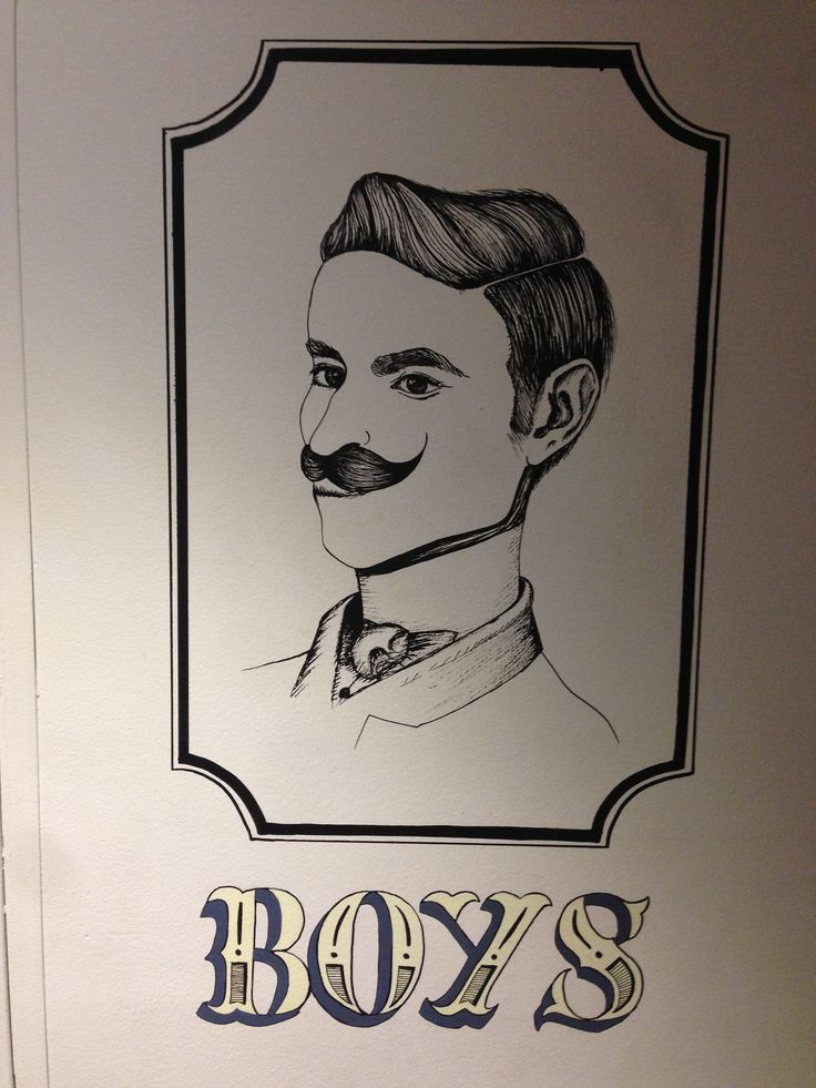 Fantastic Boys bathroom lettering and design in His Boy Elroy on Globe Lane, Wollongong