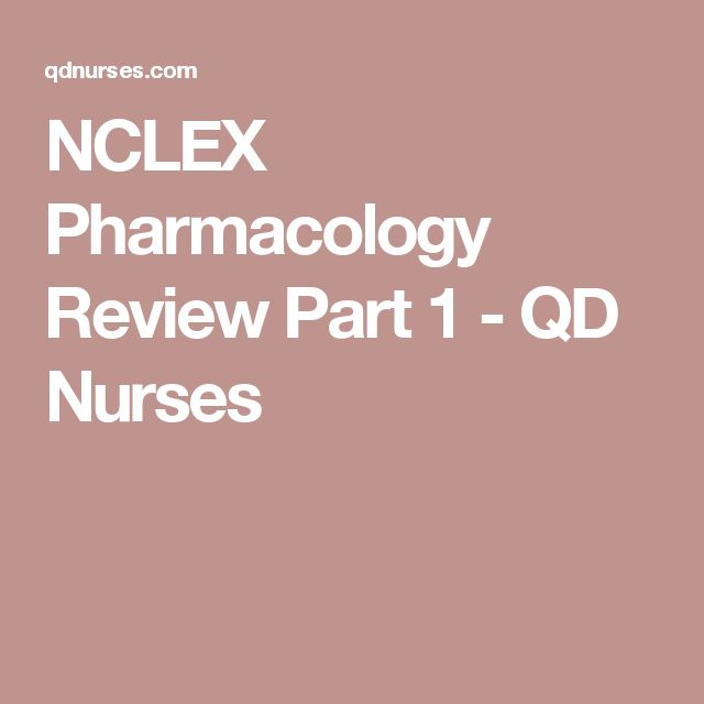 NCLEX Pharmacology Review Part 1 - QD Nurses