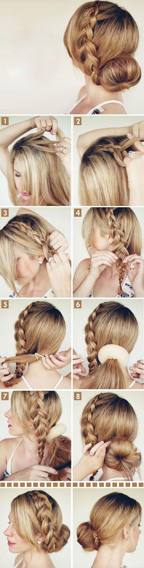 Hair Tutorial: donutknot met een vlecht. Super voor naar het werk of een feestje!