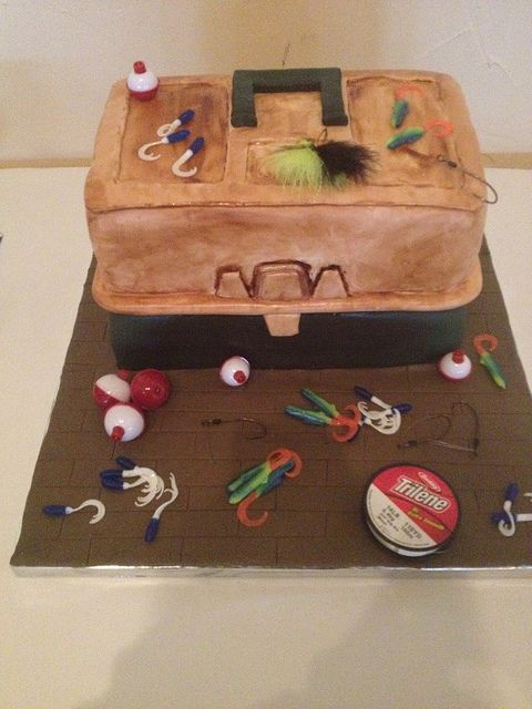 Tackle Box Grooms Cake by Simply Sisters Cake Creations, via Flickr
