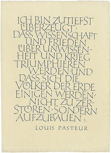 Friedrich Poppl. Ich bin zutiefst überzeugt... (Luis Pasteur), 1966  69,2 x 49,8 cm