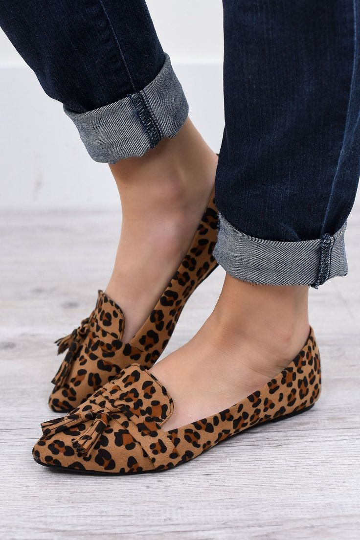 Casual Walking And Lounging Around Leopard Flat Shoes - SHO1057LE