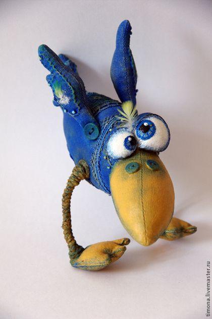 Игрушки животные, ручной работы. Ярмарка Мастеров - ручная работа. Купить И снова Синий ПтЫц прилетел. Handmade. Синий