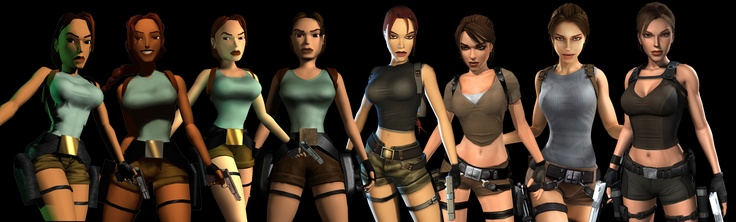 the evolution of lara croft