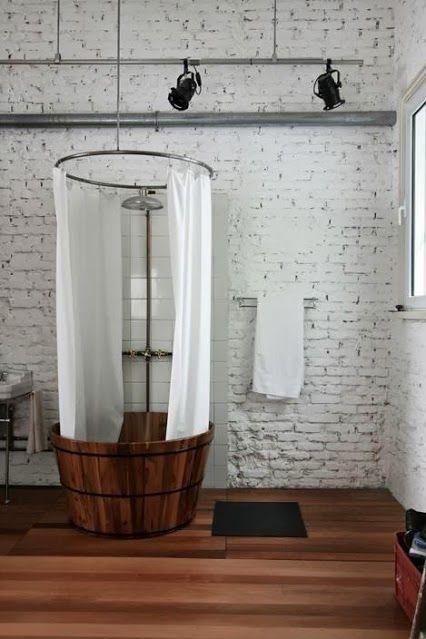 Waschzuber Dusche . Laundry tub shower . Decoracion Hogar