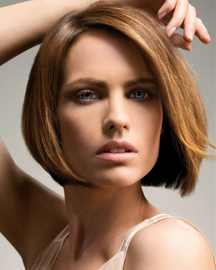Shoulder Length Hairstyles For Dark Brown Hair : 35 best chin length bob images on pinterest
