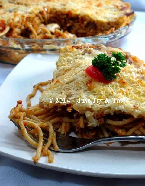 Just Try & Taste: Spaghetti Casserole: Kenyang! Lezat! Puas!
