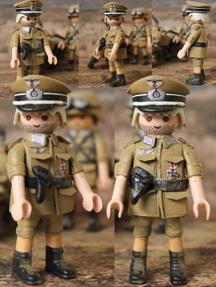 Custom Playmobil Oficial Alemán Afrika Korps WWII / Afrika Korps German Official