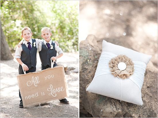 Country wedding ring bearer ideas for beach