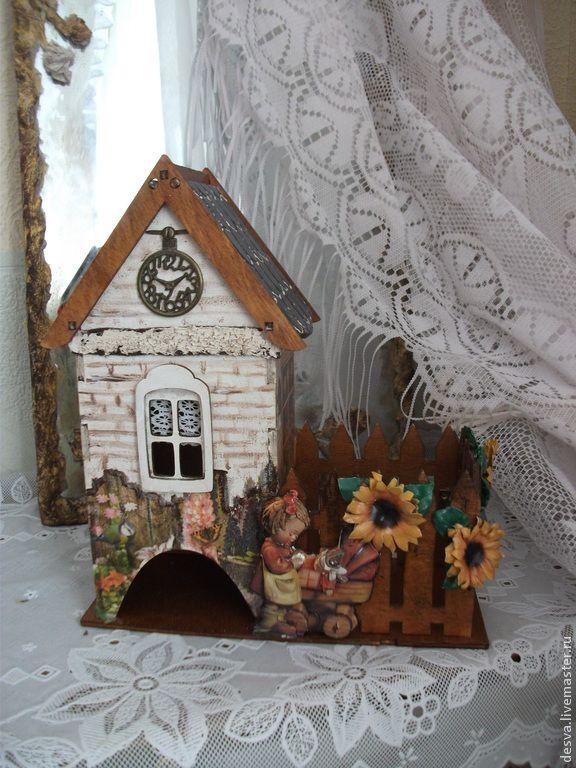 """Купить чайный домик с конфетницей """"Мамины сказки"""" - коричневый, конфетница, чайный домик, домик для чай"""