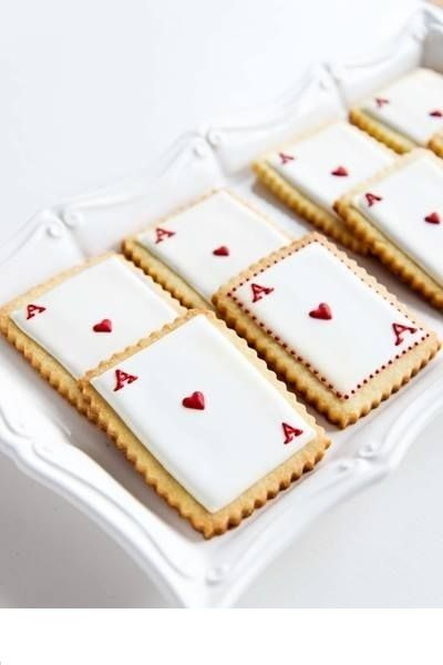 Playing card cookies, great for a casino party!