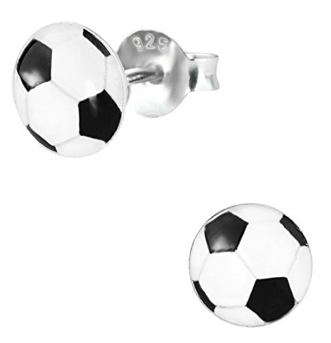 These hypoallergenic earrings are lead and nickel free and safe for sensitive ears. They are made with .925 Sterling Silver (not silver plated or Read more http://shopkids.ca/kids-girl/925-sterling-silver-hypoallergenic-soccer-ball-stud-earrings-for-girls-nickel-free/
