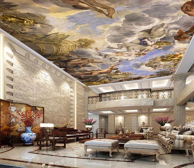Customize Ceiling Mural Ceiling Murals Traditional Wallpaper Self Adhesive Wallpaper