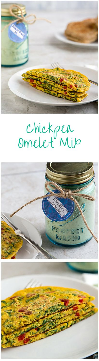 Chickpea Omelet Mix from FatFree Vegan Kitchen: Keep this mix on hand to make vegan chickpea flour omelets in minutes! #omelette