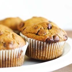 Pumpkin Chocolate Chip Muffins - I just drop them like cookies to make muffin tops and they've quickly become a  family favorite! Allrecipes.com