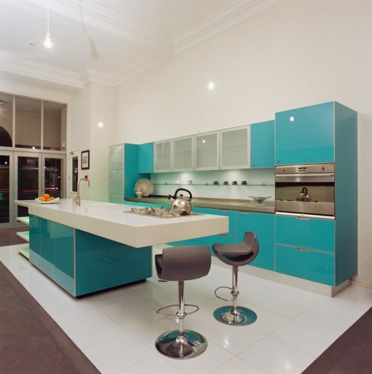 http://www.justsoakit.com/wp-content/uploads/2015/01/elegance-suitable-color-for-kitchen-design-with-turquoise-cabinet-and-kitchen-island-as-well-white-granite-countertop-along-with-lighting-idea-in-ceiling-plus-modern-bara-stools-and-white-tile-floor-870x874.jpg