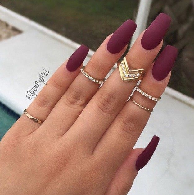 Plum Nails | Most Pinned Matte Nail Polish Ideas On Pinterest
