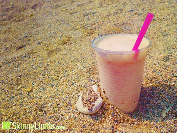 """Summer Breeze"" Melon Peach Smoothie Recipe - This sounds perfect for relaxing outside in the sun!"