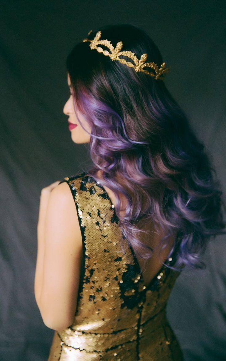 Royal purple hair #TheRoyals
