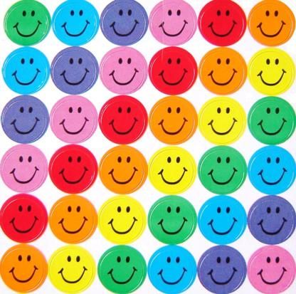 Rainbow creations smiley face stickers
