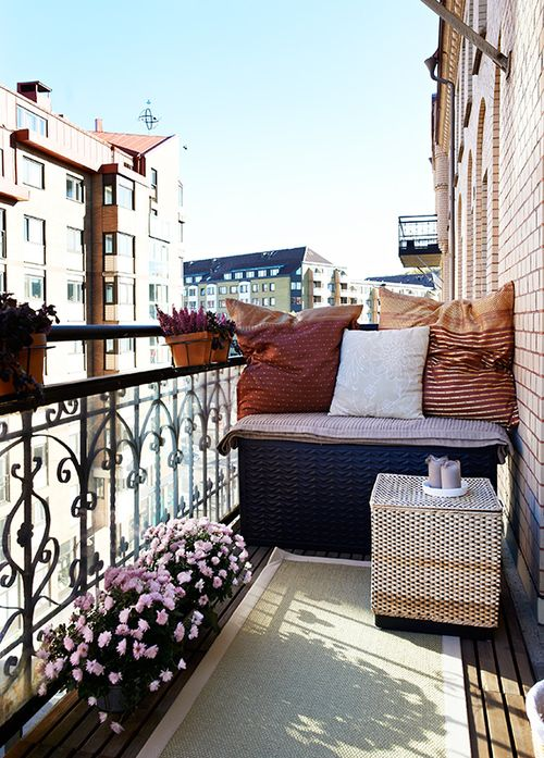 Small apartment balcony space