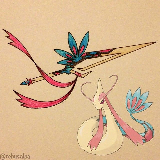 Pokeapon No. 350 - Milotic. #pokemon #milotic #hookblade #pokeapon