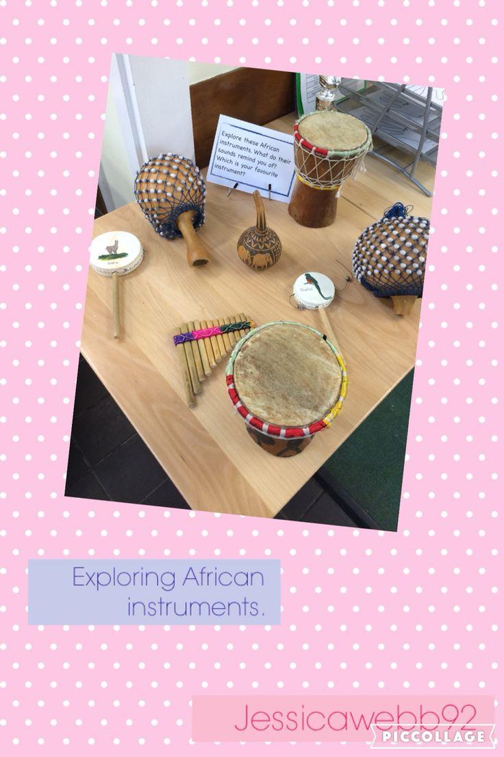 Exploring African instruments. EYFS