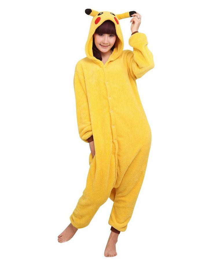 pokemon pikachu pyjama d guisement pour adulte taille m v tements et. Black Bedroom Furniture Sets. Home Design Ideas