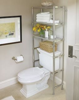 Over the toilet shelf..need something like this.