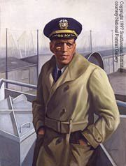 September 29, 1942, Captain Hugh Nathaniel Mulzac became the first African-American to command a Merchant Marine ship. He became Captain of the SS Booker T. Washington, which was the first liberty ship to be name after an African American.