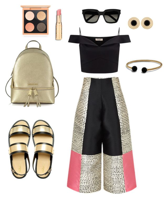 """Blak and good look"" by isabell-zanoletti on Polyvore featuring moda, Lipsy, Park Lane, Michael Kors, Yves Saint Laurent, MAC Cosmetics, David Yurman e outfit"