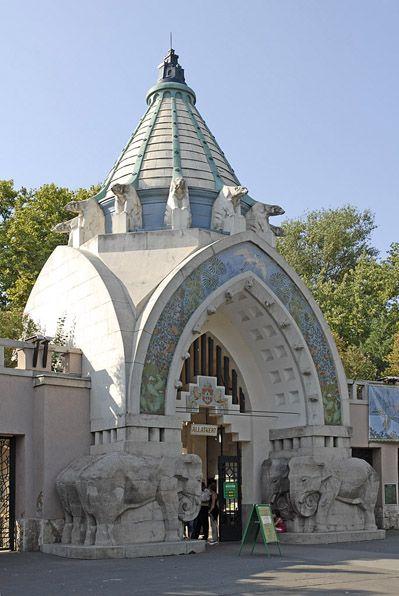 Budapest Zoo Art Nouveau entrance