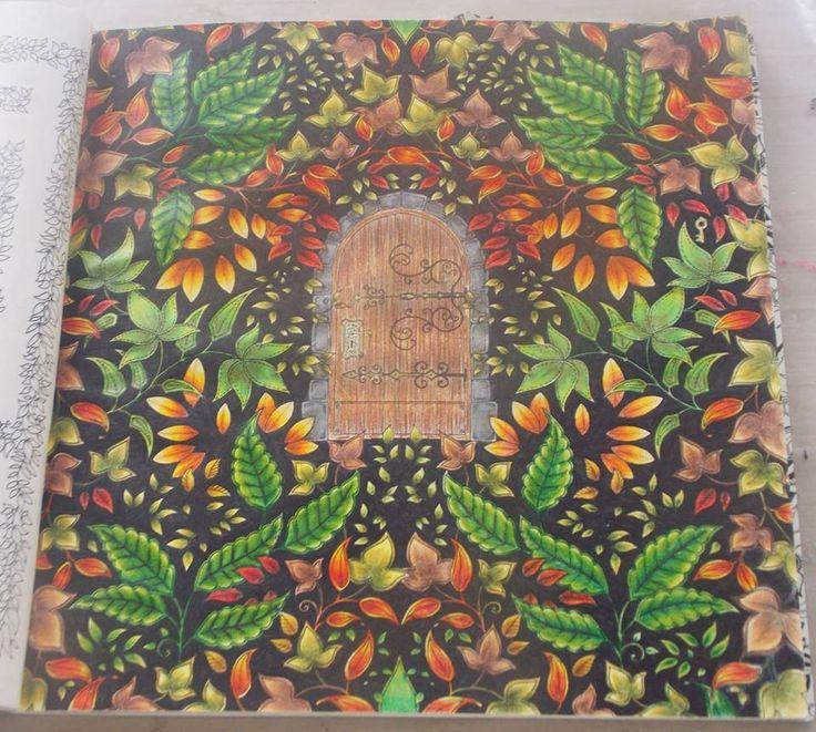 Secret Garden Coloring Book Artist Best Images About Center Door Porta