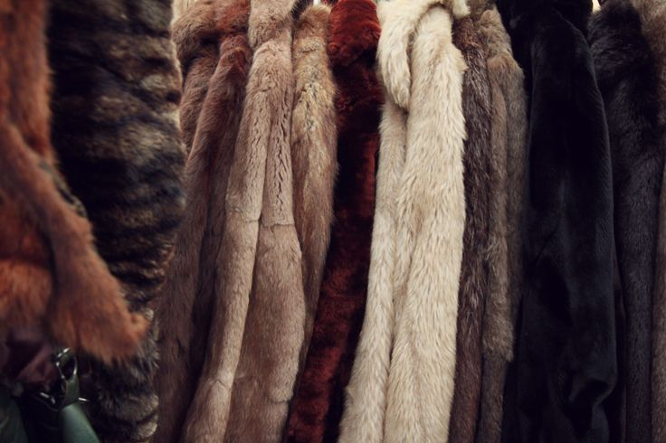 Vintage Furs at Hay Does Vintage in Hay-on-Wye.
