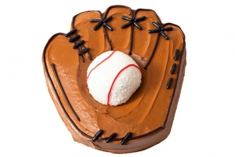 Cool baseball cake.  Recipe at:    http://www.parenting.com/article/how-to-make-a-baseball-birthday-cake