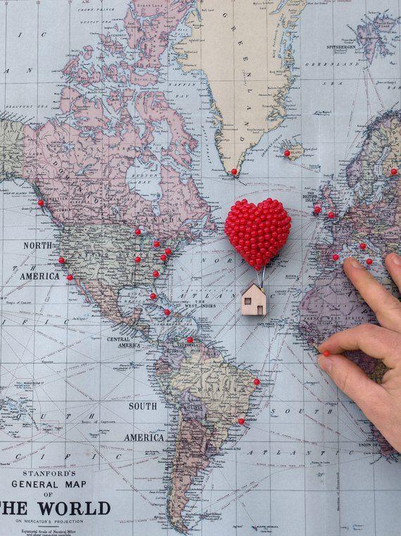 Ballon Pin Herz   – Reise