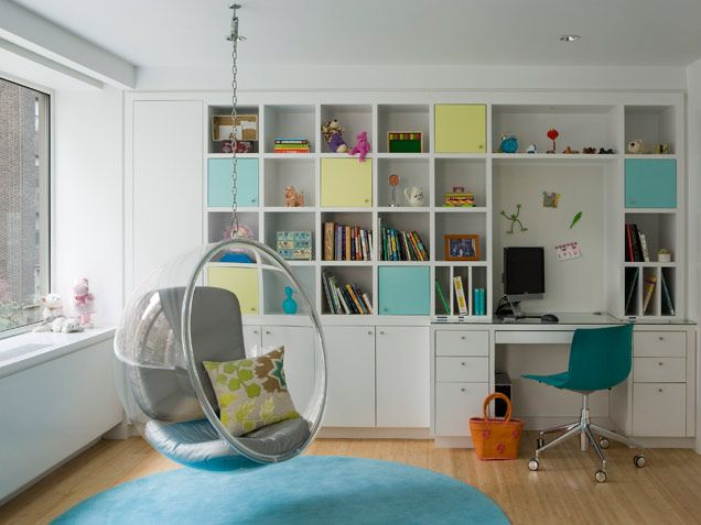 I like the storage and organization. (Wish there was an IKEA near by or they would ship the things I want up here!)    The colors are nice together, too.  Room is airy and happy.
