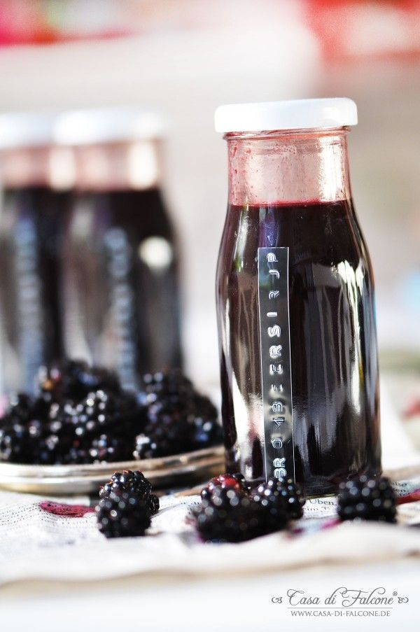 blackberry syrup I Brombeersirup I drinks I dymo I food packaging I Casa di Falcone