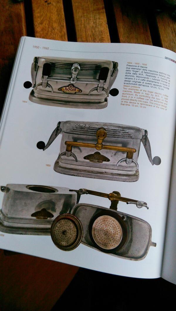 Some 1950s moka pots were designed to look like super miniature commercial espresso machines (lookit spouts!)